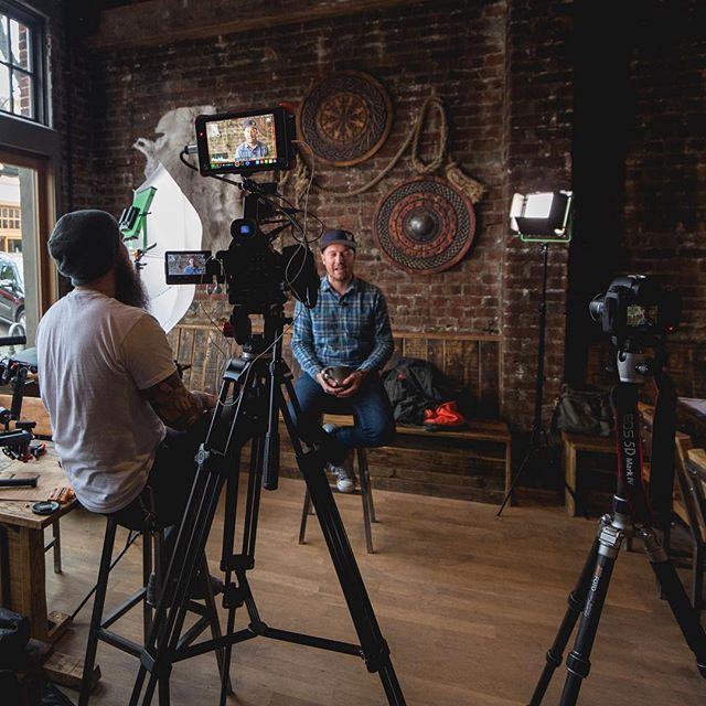 Our last interview with @skalballard before their public opening later this week. This space is beautiful and we'll definitely be hanging out here for some drinks!⠀ •⠀ We shot this interview on a @canonusa C100 Mark II and 5DM4 using a 24-70mm f2.8 and a 50mm f1.8. We had a nice large window for natural light as key but added a panel to safeguard against fluctuating light (clouds were all over the place that day). Also added a hair light set to low power. Swipe! 👉⠀ •⠀ #videoproduction #directorofphotography #filmmaking #filmmaker #video #canon #canonvideo #videomaker #videomaking #behindthescenes #bts #lighting #cinematography #behindthecamera #filmmakersworld #canoncinema #colorgrading #coloring #photography #videography #atomos #filmcommunity #filmproduction @filmmakersworld @camera_setups #filmmakinglife #teamcanon #camerasetup