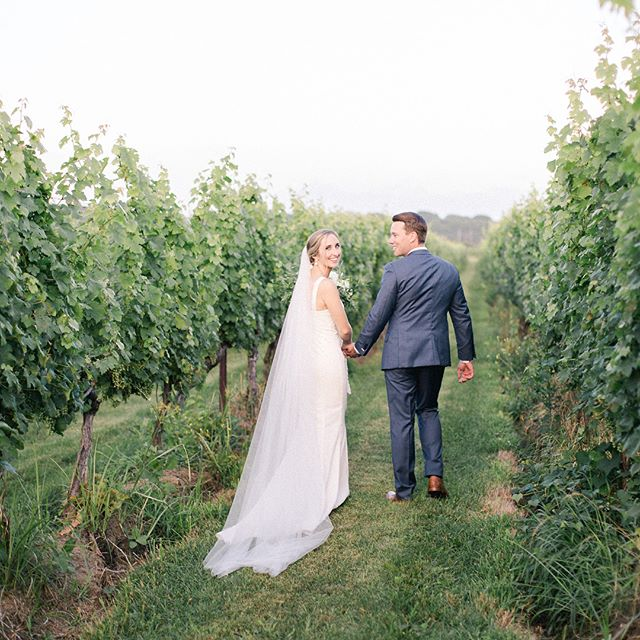 Mary & Kevin are MARRIED! 🥂 What a beautiful celebration this past weekend at @saltwaterfarmvineyard