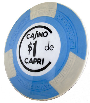 These are perfect for your entertainment room. Hand Painted UNIQUE  Fine Art pieces with #acrylic on canvas and  solid wood. Painted on canvas and on solid wood-24 inch diameter by 1 inch thick. SAATCHI ART: Check it out.  http://www.saatchiart.com/art/Painting-Casino-de-Capri-Casino-Chip-24-inch-diameter/92254/2958585/view