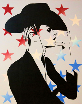 """""""American Cowgirl"""" by Steven Swancoat. 24x36. Acrylic & Mixed Media on Canvas. www.SPiNGalleries.com"""