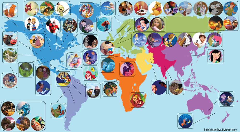 digg :     This map shows where every Disney movie takes place.