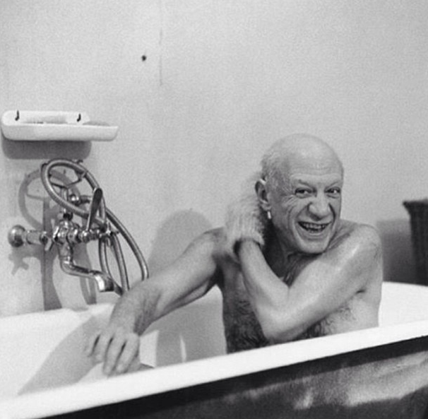 Picasso taking a bath…