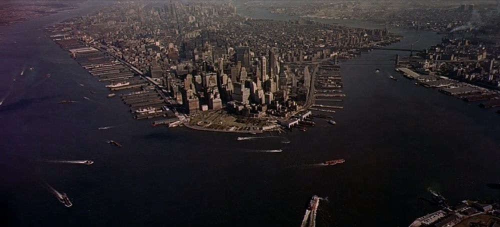 New York City and all of it's piers in 1961. Most are gone now.
