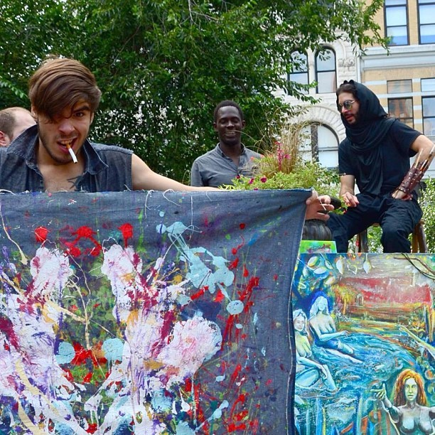 far-from-home :     RaiseART takes Union Square  #art #artist #picoftheday #photography #painting #francisvirella #im #famous #igaddict #infinite #fame #followme #like #expression #smile #swag