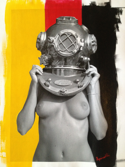 On request, Diver UP! Deutschland. Photocanvas mixed with acrylic. This will be hanging on the walls of The SPiN Galleries in Shanghai next weekend.