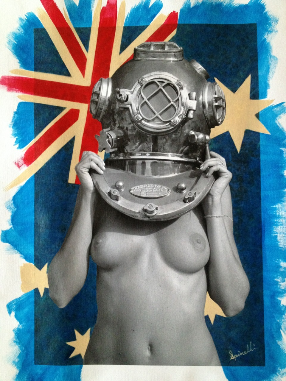 On request and on its way to the SPiN Galleries in Shanghai, Diver UP! Australia-Down Under. ©Victor Spinelli