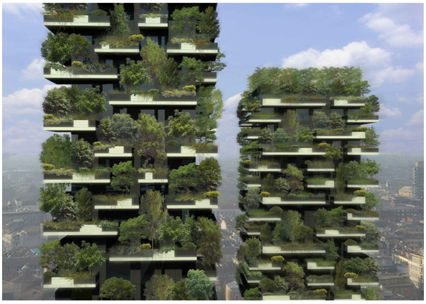 Bosco Verticale, a high rise apartment in Milan covered in trees. Set to open soon. Now this is smart. http://www.stefanoboeriarchitetti.net/?p=207