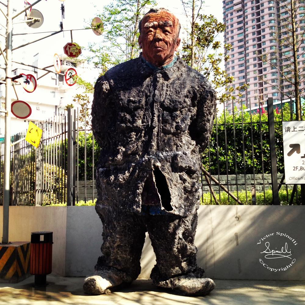 Statue at M-50 aka Moganshan, Shanghai Art District.