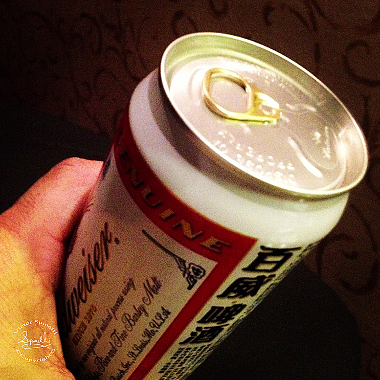 When was the last time you saw a pull tab on a Budweiser? Only in China.