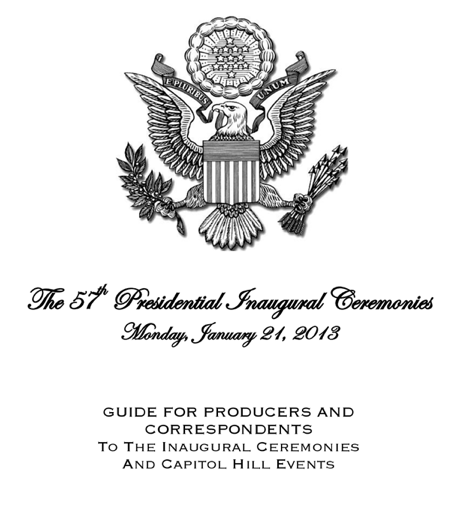 President Obama Inauguration Guide. 2013