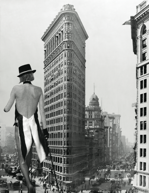 Flatiron Strut. 14x20 on Canvas board. Collage 2012. Covered in Resin. ©Victor Spinelli