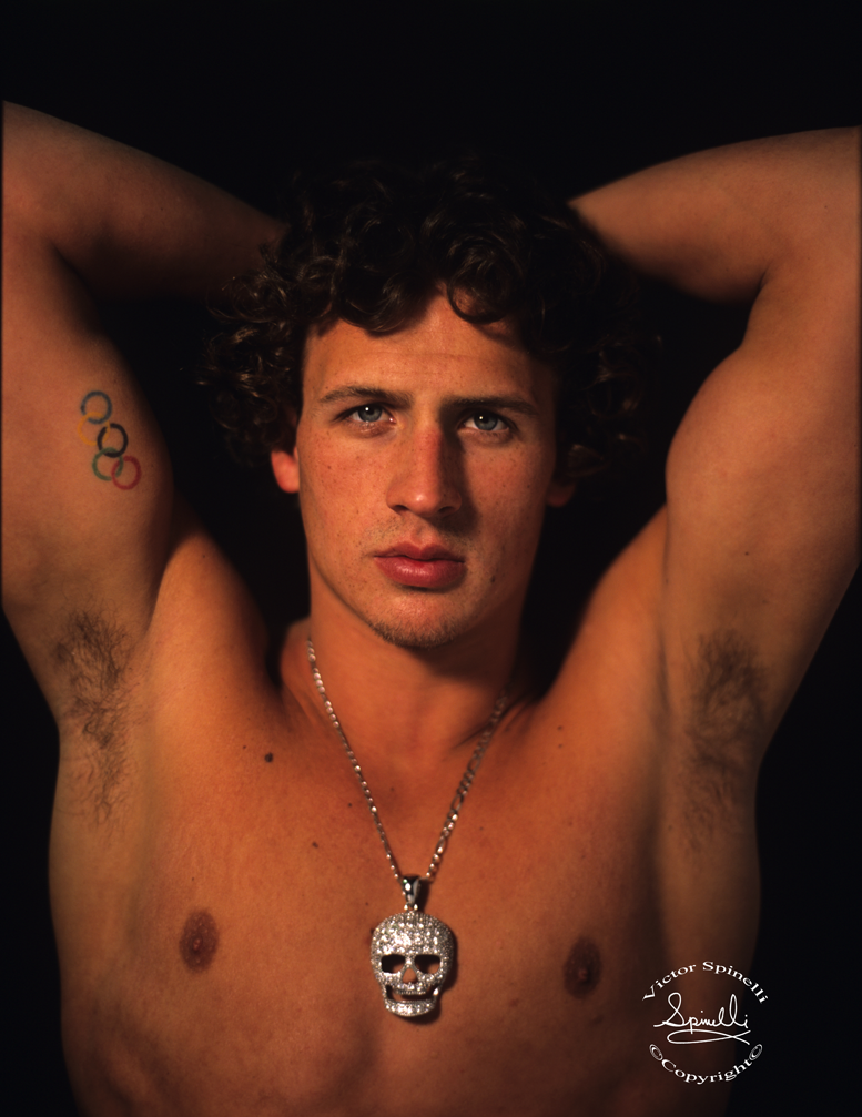Ryan Lochte . This is the portrait I took of USA Olympic Swimmer Ryan Lochte. He just the  Gold  Medal in the 400 IM at the London Olympics. More to come. Taken with a Contax 645 and 80mm 2.0 Zeiss Lens on 400 ISO print film.