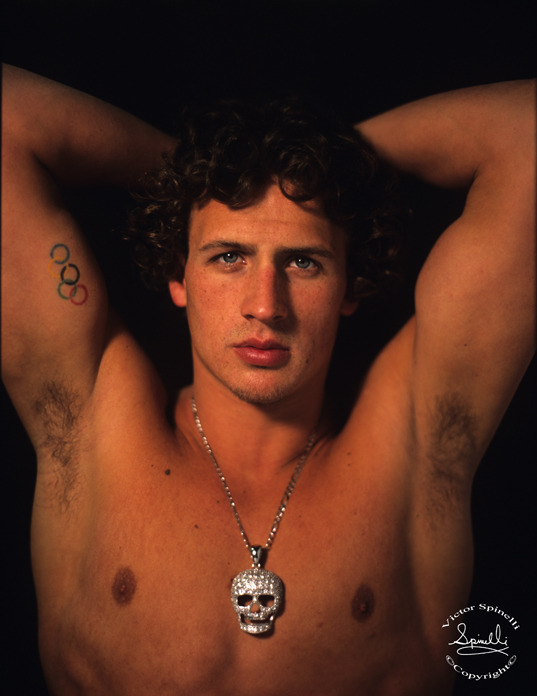 Ryan Lochte . This is a portrait I took of USA Olympic Swimmer Ryan Lochte in 2008. It looks like he is the one to watch this year in London. He beat Michael Phelps last night in the US trials. Enjoy.   PS. And he just won the Gold in the London Olympics 400IM.