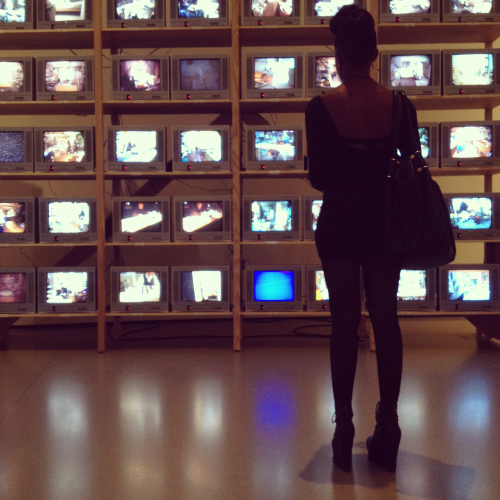 Interactive TV display at the MOMA with Chantae Vetrice. NYC