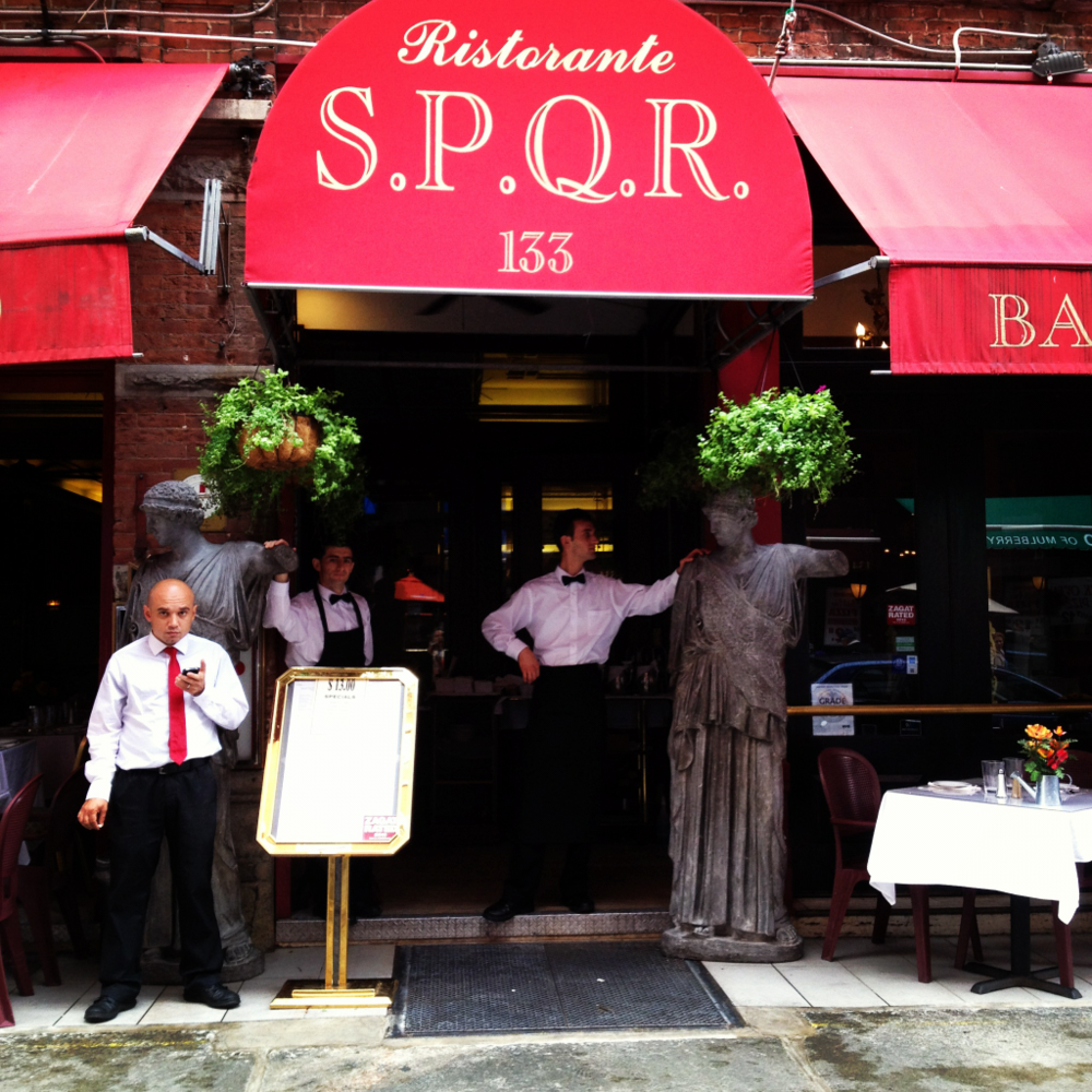 Mulberry Street, little Italy. NYC. SPQR!