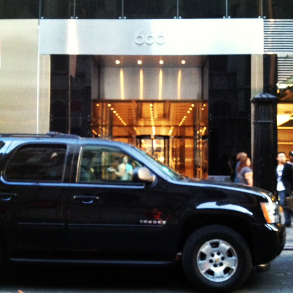 Entrance to CitiBank building at 666 5th  Avenue. Go figure. NYC