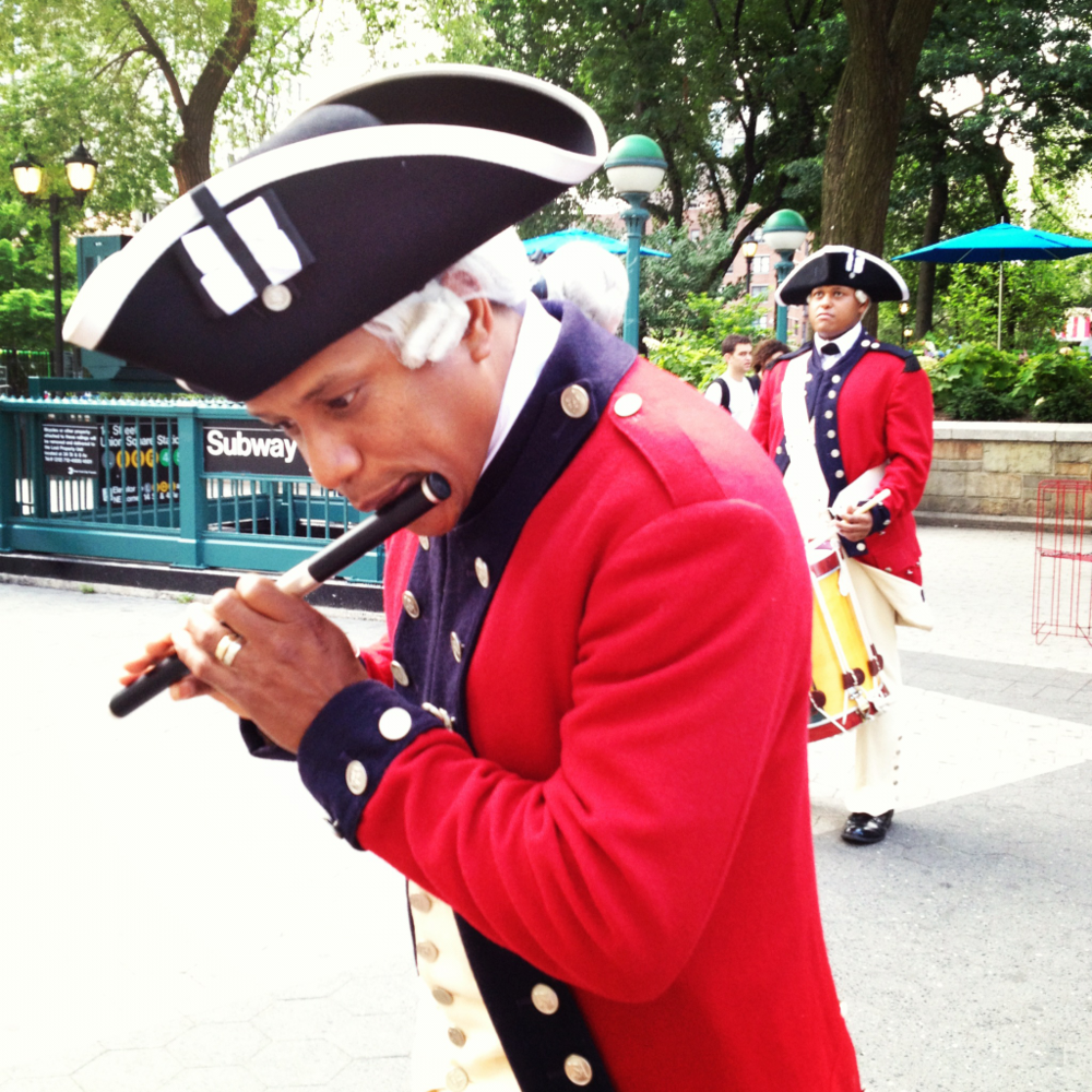 Reenactors celebrating the US Armies 237th birthday last week. Union Square NYC
