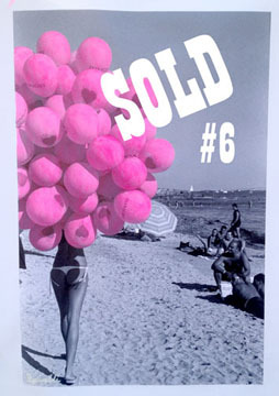 Balloon Beach #6 Sold 16x24 mixed acrylic on canvas