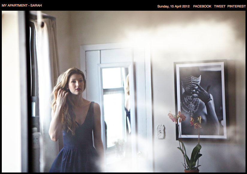 Girls About Town, Salvatore Ferragamo Blog. See my photograph, 'The Jewel Thief' displayed on her wall.