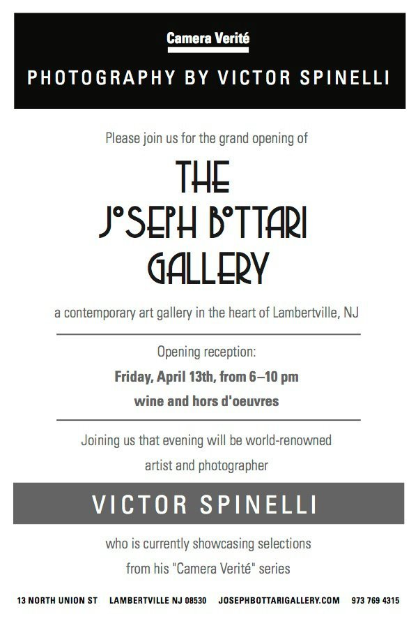 The Opening of the Joseph Bottari Gallery in the cute gallery town of Lambertville, New Jersey. April 13th, 2012 featuring my work.