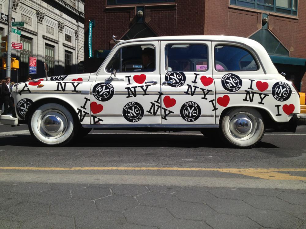 Sweet I Love NY taxi.