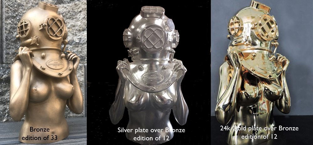 Victor Spinelli-Diver up-Bronze-Silver-Gold.jpg