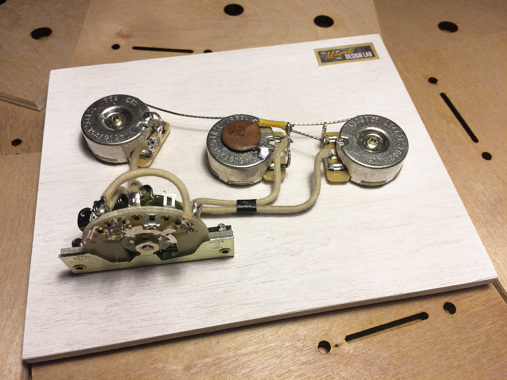 Vintage Strat Wiring Harness/Laser Cut Mounting Boards