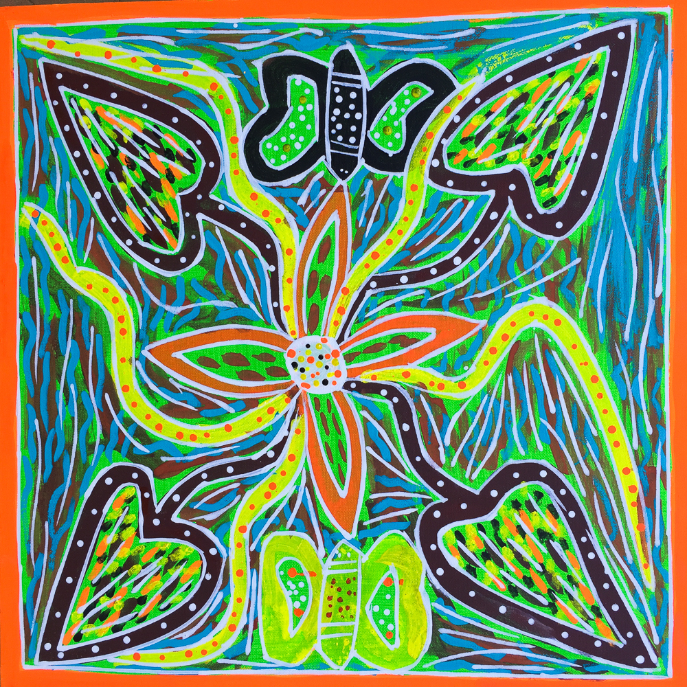 Daniel Bonson  Yams and dragonflies.