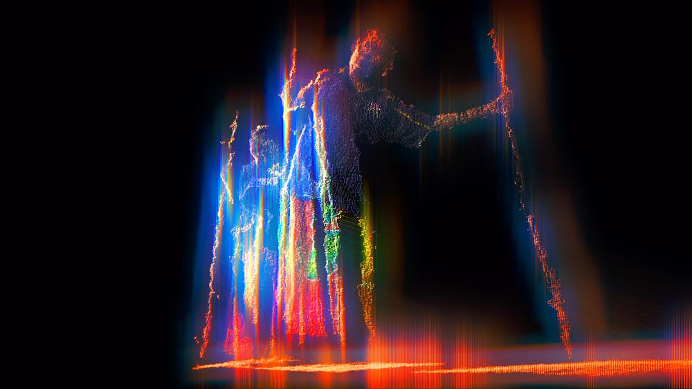Digital still from Alexander Boynes' video work.