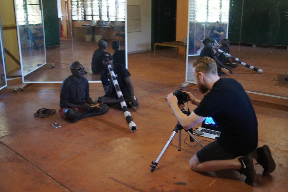 Alexander Boynes filming Daniel Bonson and Marcus Pascoe  Photo Laura Boynes.JPG