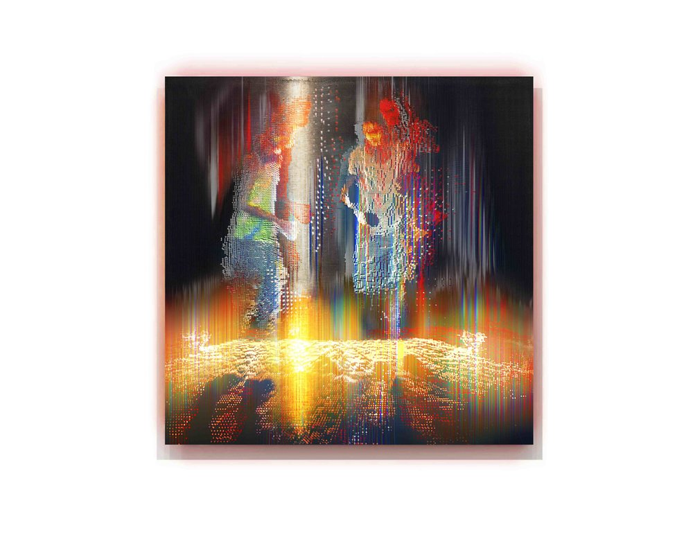Alexander Boynes 2016 - Dreaming Story - 48cm x 48cm, Pigment & Enamel on Acrylic and Aluminium