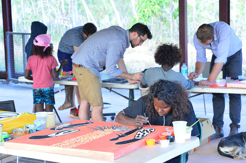 Saturday afternoon painting with kids at Djinkarr. Photo Hugo Sharp.jpg