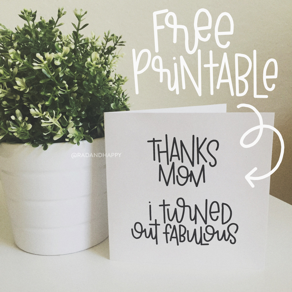Free Printable Mothers Day Card Edition Rad Happy