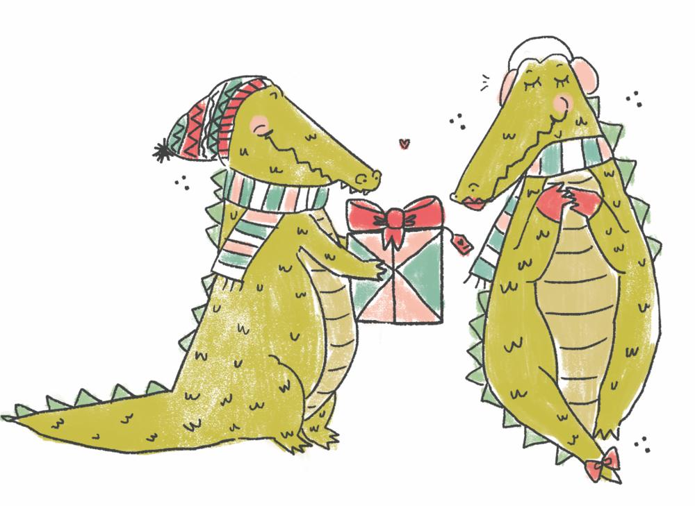 Alligator Christmas : Punch Studio