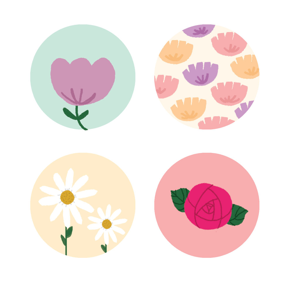 Flower Stickers : Ouifresh Happy Mail