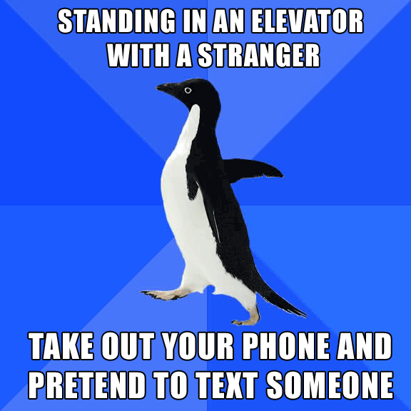 socially-awkward-penguin-elevator-phone