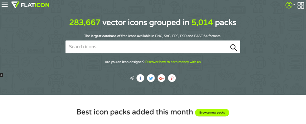 Need a vector icon for a project or presentation? Look no further than this free database.