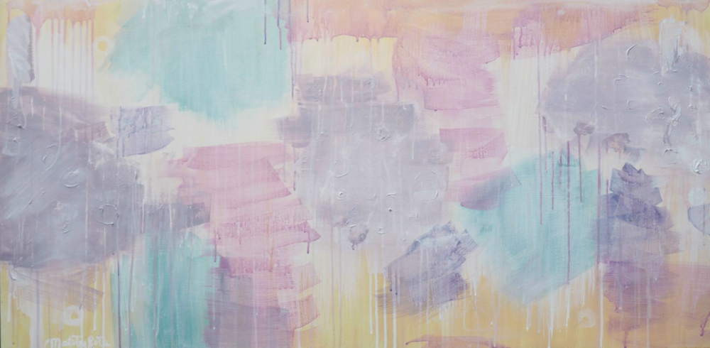 Sleepy Dreamer,  48x24,  acrylic on stretched canvas,$600