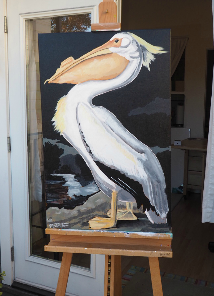 Pelican on Easel Edited.jpg