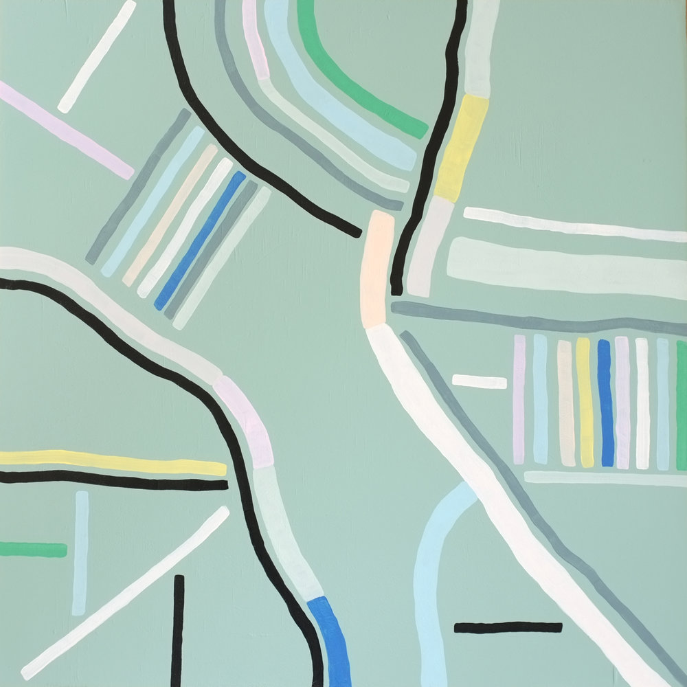 Andrea Shaw_Along the river_enamel and acrylic on board.jpg