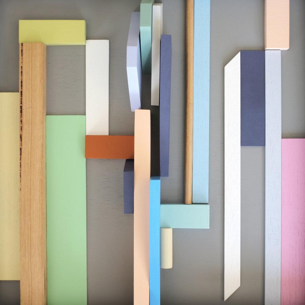 Andrea Shaw_Short climb_enamel acrylic and wood.jpg