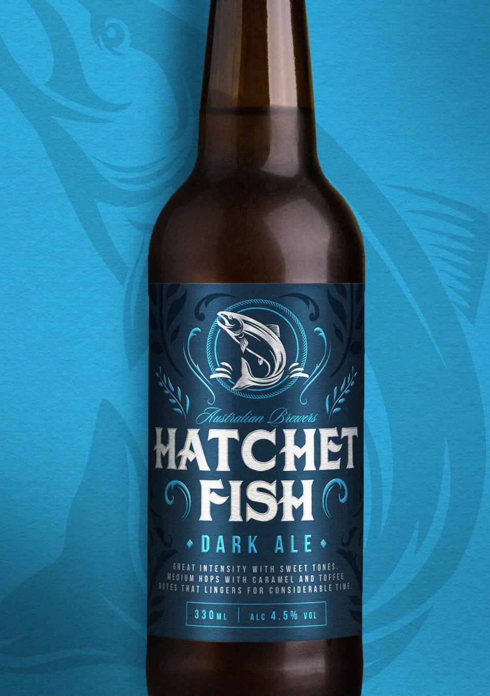 Hatchet Fish Ale Our Revolution Packaging Design