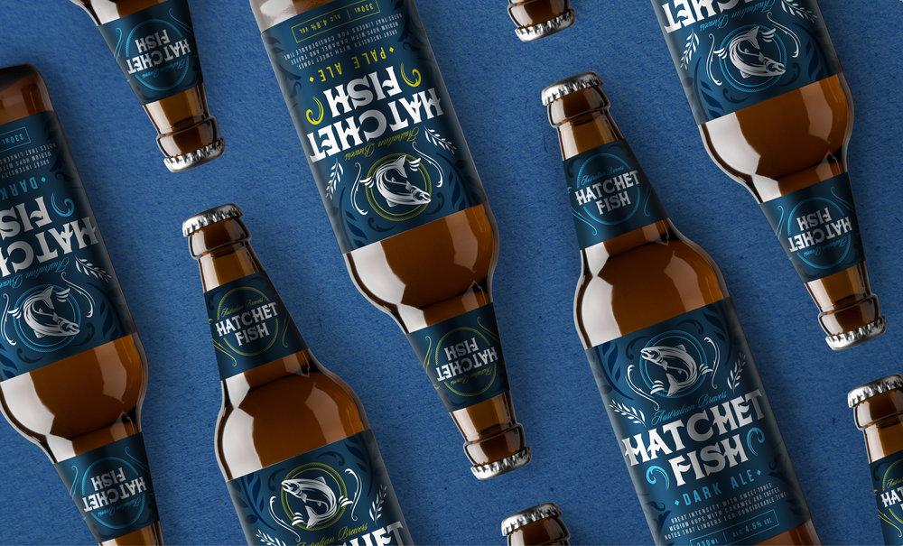 Hatchet Fish Our Revolution Brand Design Brand Logo Packaging Design Brand Strategy Brand Innovation Beer Packaging Beer Design Beer Brand Alcohol Branding Alcohol Packaging Alcohol innovation Packaging Innovation