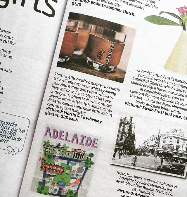 Thank you to the @thecityadelaide for featuring us in their local merchants gift giving guide! We are still taking Christmas orders through morrieandco.com until the 20th and we have a small selection at @thelovelettery in Topham mall also. We're featured here in the good company of our dear friend @pipkruger which is extra awesome!