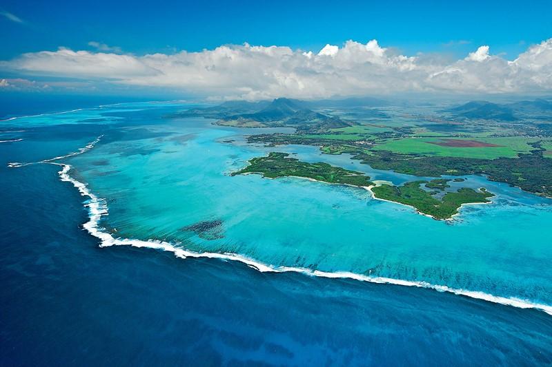 Vue aérienne de l'Ile aux Cerfs