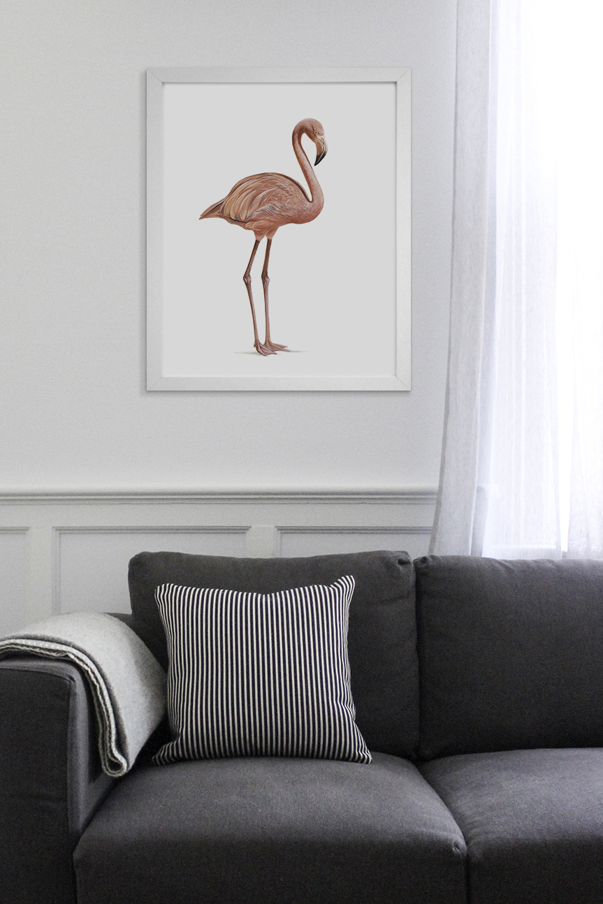Peaches the Flamingo by Australian Artist Andrew Howells for Stampede Style