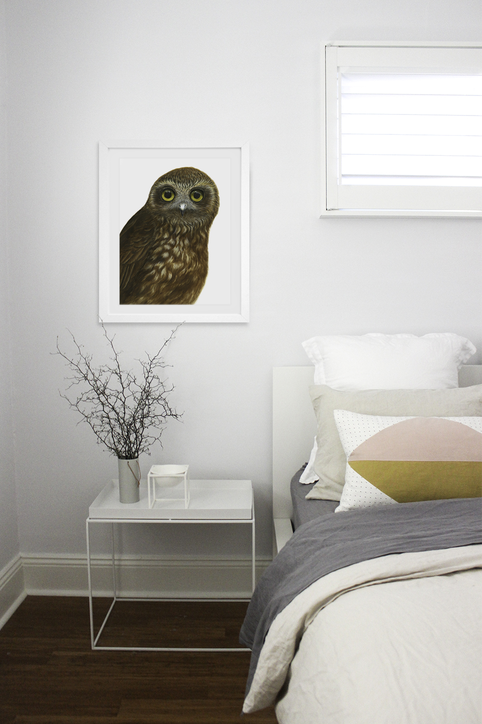 Rocco the Boobook Owl by Australian Artist Nayana Iliffe for Stampede Style www.stampedestyle.com