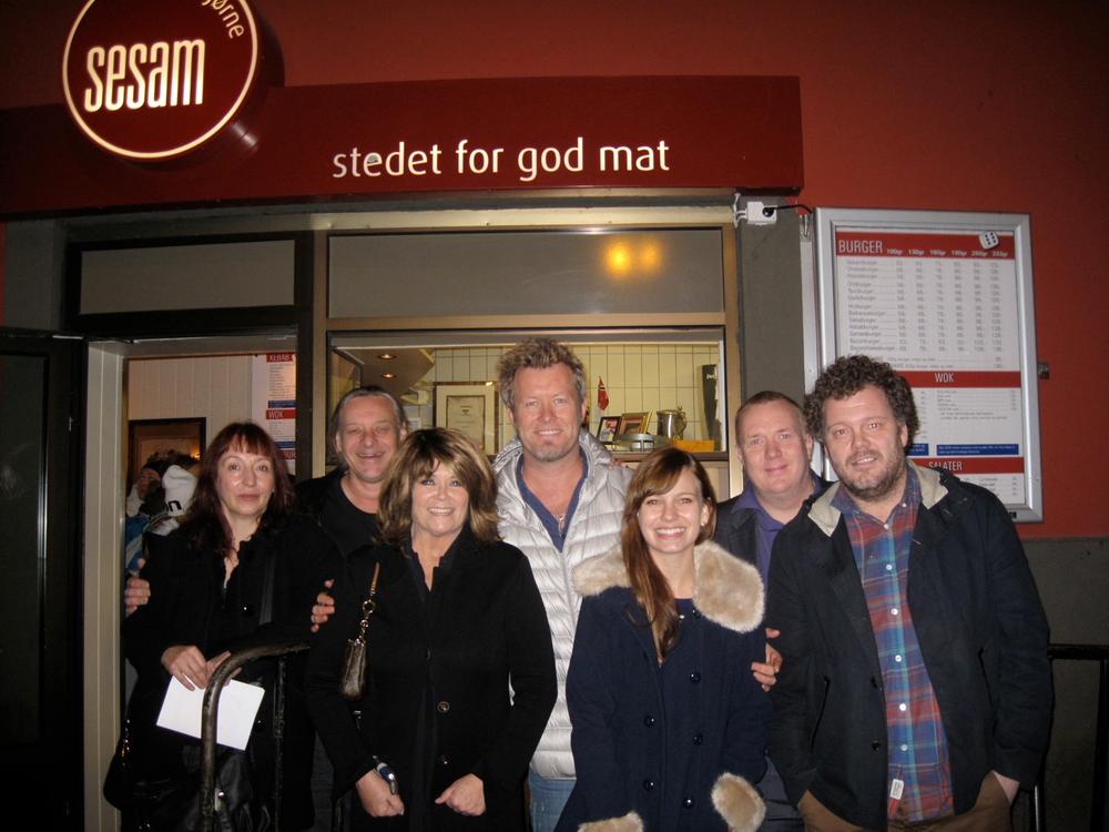 Wenche Myhre, Magne Furuholmen og Marit Larsen m.f. som besøker Sesam