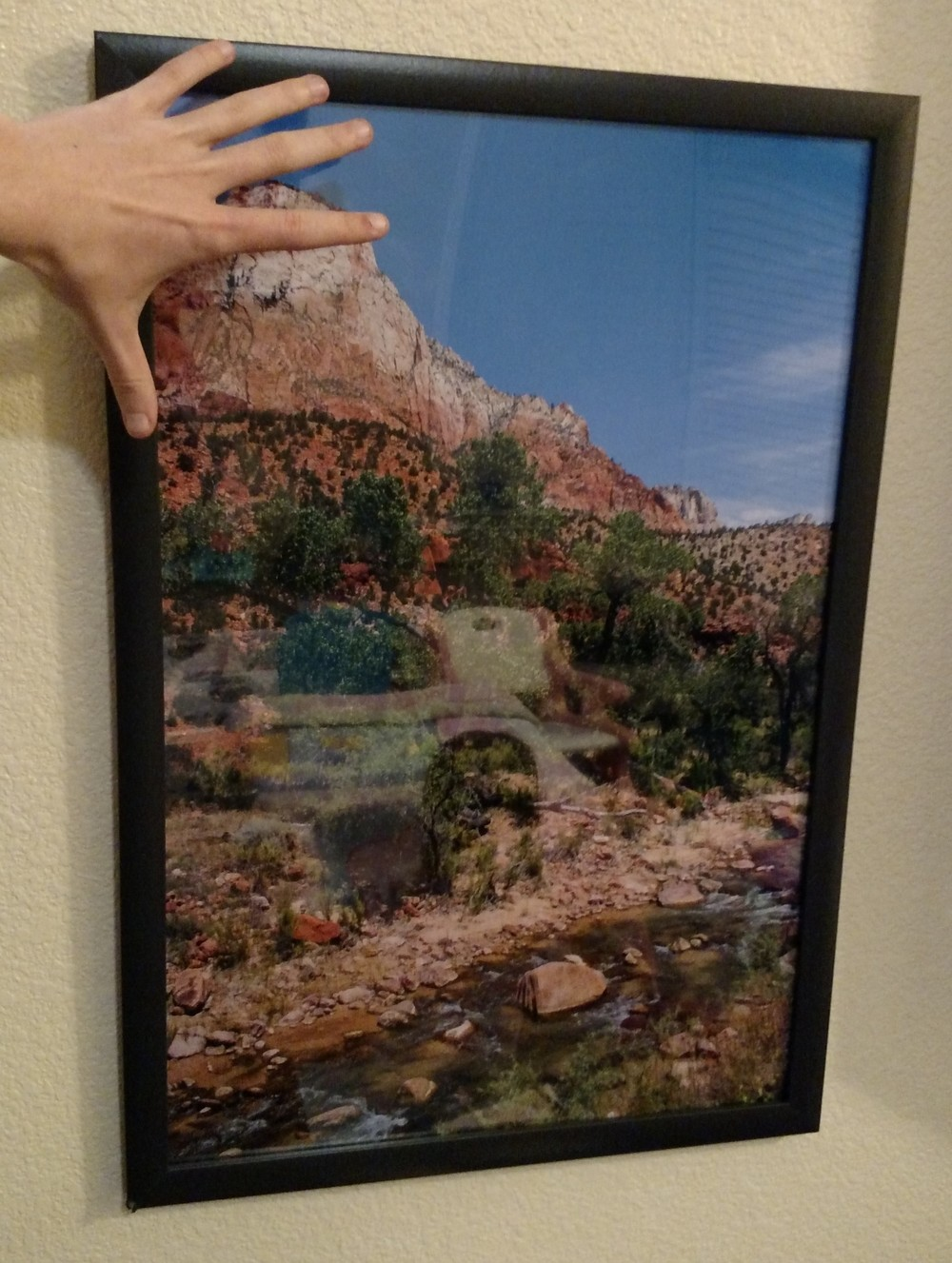 Here's a framed photograph from my graduation present (a trip to Zion National Park with my Grandparents) printed on archival paper.