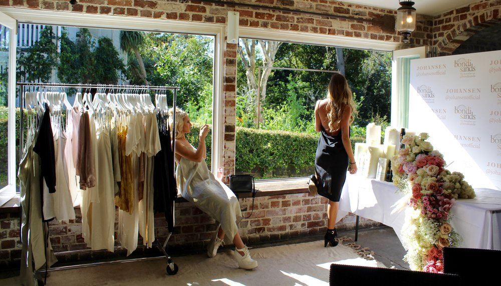 Friendship goals! - We love this photo of these two besties @shantigriffin (wearing low back dress in natural)@iamkatigarnett (wearing midnight low back dress)getting the perfect photos!